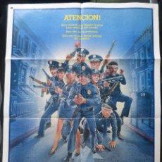 Cine: LOCA ACADEMIA DE POLICIA 2-SU PRIMERA MISION, POSTER ORIGINAL INTERNACIONAL EN ESPAÑOL,1985,WARNER B. Lote 145659106