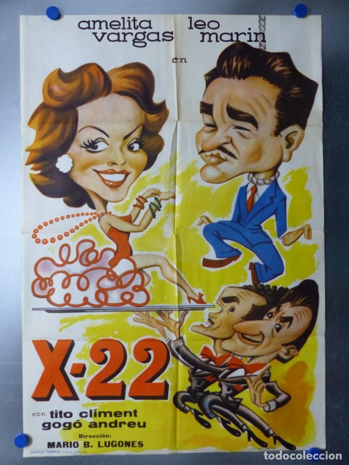 X-22 - AMELITA VARGAS, LEO MARIN, TITO CLIMENT - AÑO 1962 (Cine - Posters y Carteles - Comedia)