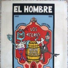 Cine: CARTEL POSTER CINE CUBANO, EL HOMBRE AGRADECIDO ,CUBA, SERIGRAFIA ,ORIGINAL, CCC 2. Lote 145987274