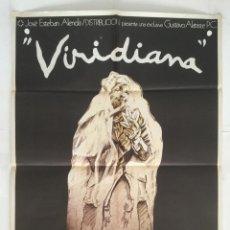 Cine: VIRIDIANA - POSTER CARTEL ORIGINAL - LUIS BUÑUEL FERNANDO REY SILVIA PINAL IVAN ZULUETA. Lote 146019690