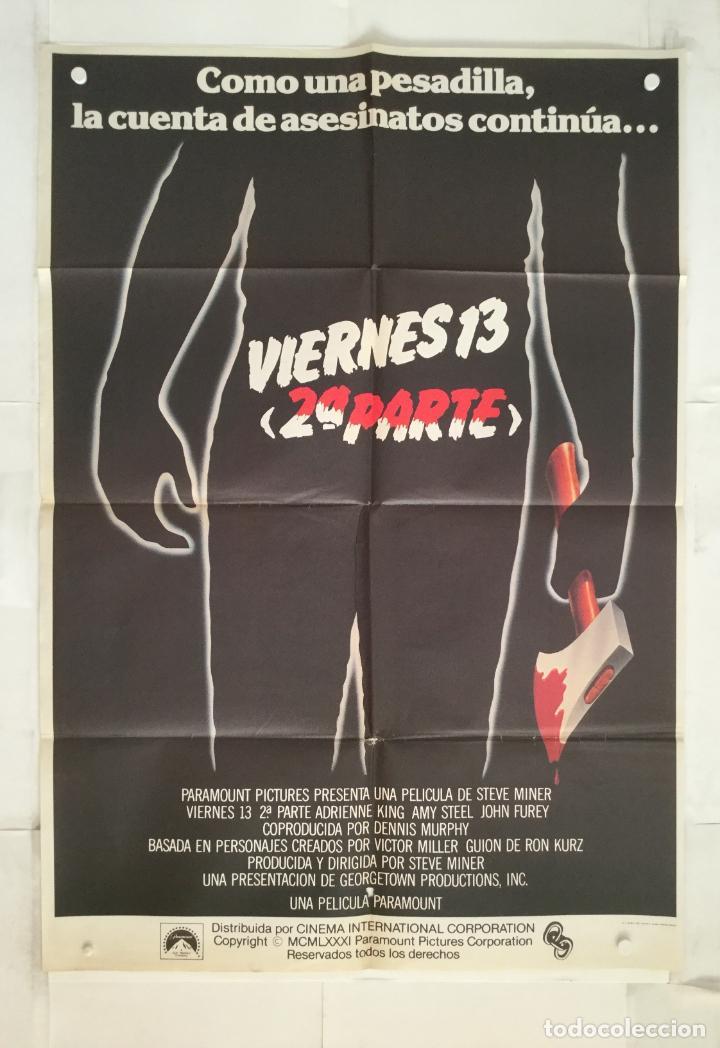 VIERNES 13 2ª PARTE - POSTER CARTEL ORIGINAL - STEVE MINER FRIDAY THE 13TH PART 2 JASON (Cine - Posters y Carteles - Terror)