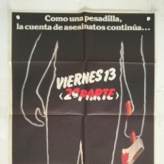 Cine: VIERNES 13 2ª PARTE - POSTER CARTEL ORIGINAL - STEVE MINER FRIDAY THE 13TH PART 2 JASON. Lote 146020050
