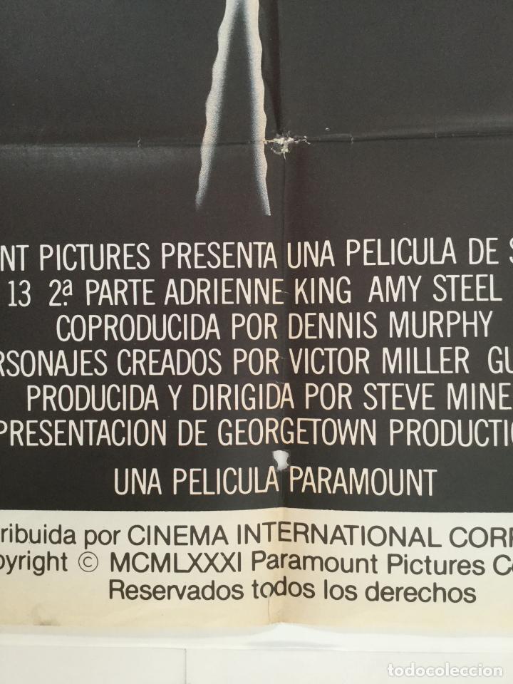 Cine: viernes 13 2ª parte - poster cartel original - steve miner Friday the 13th Part 2 jason - Foto 4 - 146020050