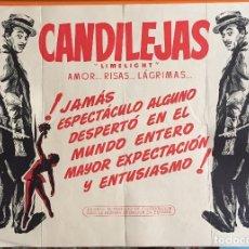Cine: CARTEL CINE- CANDILEJAS - LIMELIGHT- CHARLES CHAPLIN- 1.966. Lote 145992438