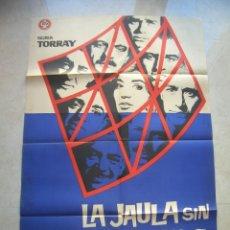 Cine: LA JAULA SIN SECRETOS. CARTEL DE CINE ORIGINAL.TAMAÑO: 96 X 64 CTMS.. Lote 146136246
