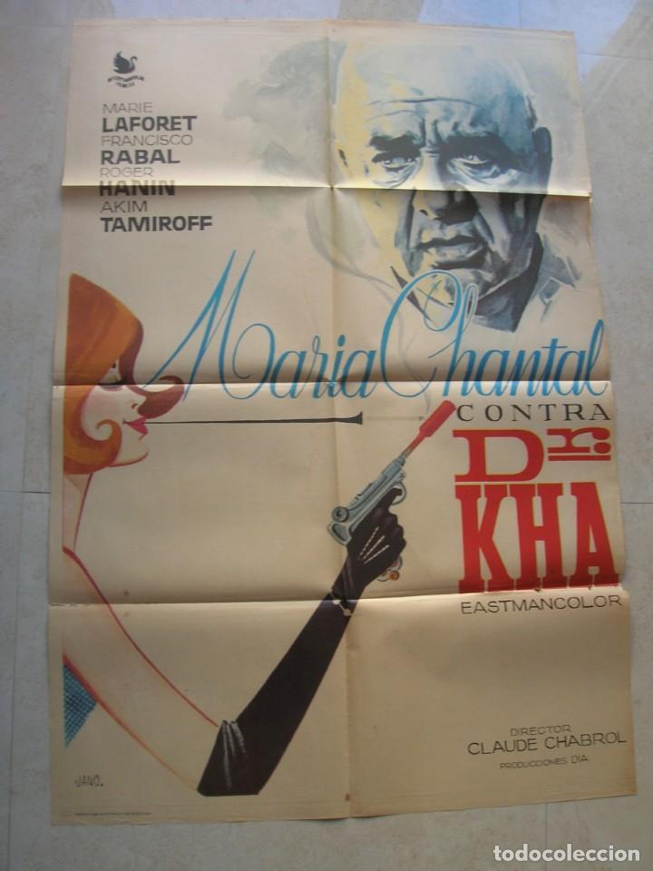 MARIA CHANTAL CONTRA DR.KHA. CARTEL DE CINE ORIGINAL.TAMAÑO: 98 X 66 CTMS. (Cine - Posters y Carteles - Clasico Español)