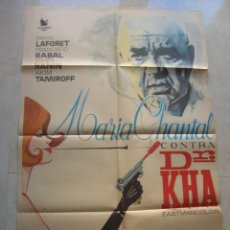 Cine: MARIA CHANTAL CONTRA DR.KHA. CARTEL DE CINE ORIGINAL.TAMAÑO: 98 X 66 CTMS.. Lote 146139150