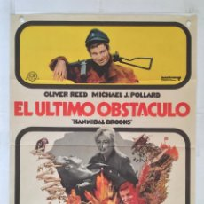 Cine: EL ULTIMO OBSTACULO - POSTER CARTEL ORIGINAL OLIVER REED MICHAEL J POLLARD 2 GUERRA MUNDIAL. Lote 146148878