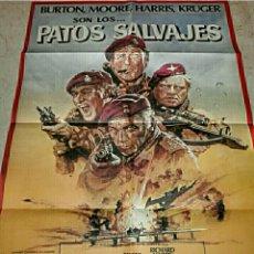 Cine: PATOS SALVAJES. CARTEL DE CINE ORIGINAL ESTRENO. Lote 146243344