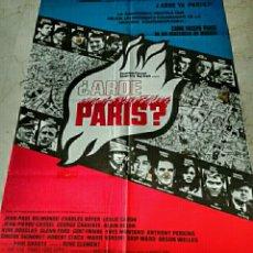 Cine: ARDE PARIS?. CARTEL DE CINE ORIGINAL REPOSICION AÑOS 70. Lote 146243525