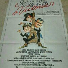 Cine: VICTOR VICTORIA. CARTEL ORIGINAL ESTRENO. Lote 146245373
