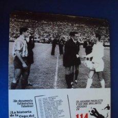 Cine: (F-190125)CARTEL 114 GOLES LA HISTORIA DE LA COPA DEL GENERALISIMO.GENTO DEL REAL MADRID. Lote 146259774
