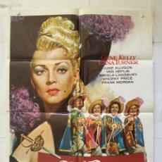 Cine: LOS TRES MOSQUETEROS - POSTER CARTEL ORIGINAL LANA TURNER GENE KELLY ANGELA LANSBURY MAC. Lote 146261606