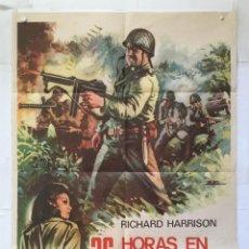 Cine: 36 HORAS EN EL INFIERNO - POSTER CARTEL ORIGINAL RICHARD HARRISON PAMELA TUDOR 2ª GUERRA MUNDIAL ESC. Lote 146263602
