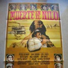 Cinema: MUERTE EN EL NILO. CARTEL DE CINE ORIGINAL.TAMAÑO: 100 X 68 CTMS.. Lote 146275470