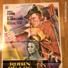 Cine: CARTEL O POSTER ORIGINAL DE ROBIN DE LOS BOSQUES ERROL FLYNN OLIVIA DE HAVILLAND. Lote 146361141