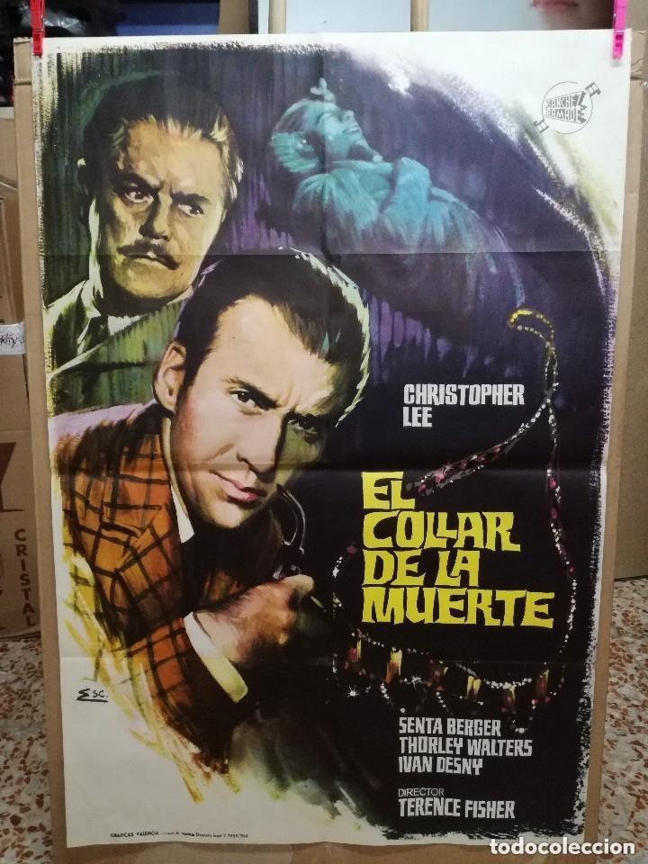 EL COLLAR DE LA MUERTE. CHRISTOPHER LEE-TERENCE FISHER. CARTEL ORIGINAL 1964. 70X100 (Cine - Posters y Carteles - Terror)