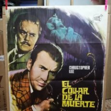 Cine: EL COLLAR DE LA MUERTE. CHRISTOPHER LEE-TERENCE FISHER. CARTEL ORIGINAL 1964. 70X100. Lote 146395734