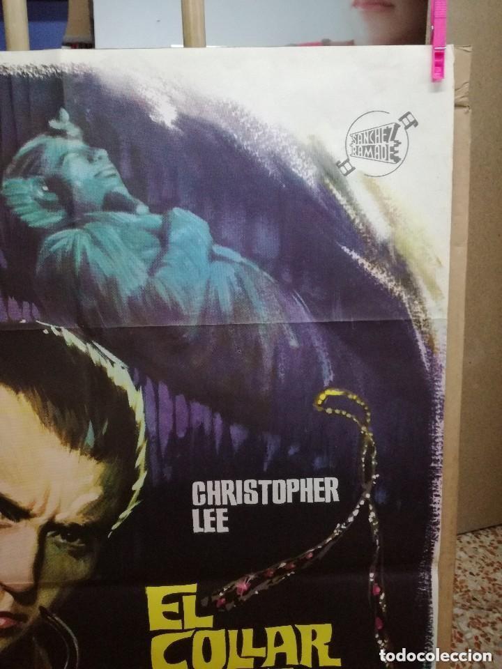 Cine: EL COLLAR DE LA MUERTE. CHRISTOPHER LEE-TERENCE FISHER. CARTEL ORIGINAL 1964. 70X100 - Foto 3 - 146395734