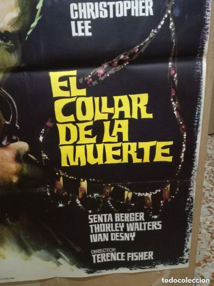 Cine: EL COLLAR DE LA MUERTE. CHRISTOPHER LEE-TERENCE FISHER. CARTEL ORIGINAL 1964. 70X100 - Foto 5 - 146395734