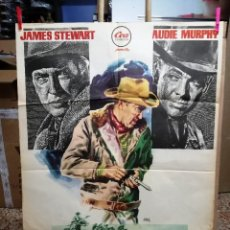 Cinema: LA ÚLTIMA BALA. JAMES STEWART-AUDIE MURPHY. CARTEL ORIGINAL 70X100. Lote 146396974
