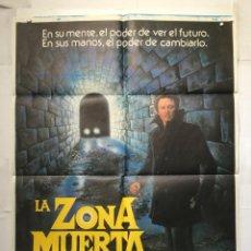 Cine: LA ZONA MUERTA - POSTER CARTEL CINE ORIGINAL - STEPHAN KING CHRISTOPHER WALKEN DAVID CRONANBERG. Lote 146411742
