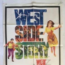 Cine: WEST SIDE STORY - POSTER CARTEL CINE ORIGINAL - NATALIE WOOD RITA MORENO ROBERT WISE RICHARD BEYMER. Lote 146423178