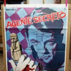 Cine: AGENTE SECRETO- JEAN MARAIS AJEDREZ POSTER ORIGINAL 70X100 DEL ESTRENO.1964 . Lote 146494386