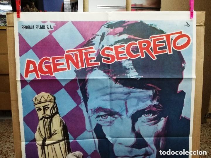 Cine: AGENTE SECRETO- JEAN MARAIS AJEDREZ POSTER ORIGINAL 70X100 DEL ESTRENO.1964 - Foto 3 - 146494386