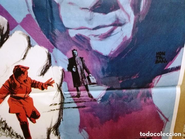 Cine: AGENTE SECRETO- JEAN MARAIS AJEDREZ POSTER ORIGINAL 70X100 DEL ESTRENO.1964 - Foto 4 - 146494386