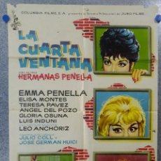 Cine: LA CUARTA VENTANA. EMMA PENELLA ELISA MONTES TERESA PAVEZ JULIO COLL. AÑO 1962. Lote 146896190