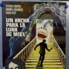 Cine: UN HACHA PARA LA LUNA DE MIEL. STEPHEN FORYSTH, DAGMAR LASSANDER, LAURA BETTY JESUS PUENTE. AÑO 1970. Lote 201179058