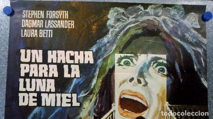 Cine: UN HACHA PARA LA LUNA DE MIEL. STEPHEN FORYSTH, DAGMAR LASSANDER, LAURA BETTY JESUS PUENTE. AÑO 1970 - Foto 2 - 201179058