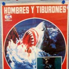 Cine: HOMBRES Y TIBURONES. DOCUMENTAL. BRUNO BAILATI. AÑO 1976. Lote 147028518