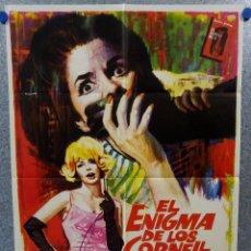 Cine: EL ENIGMA DE LOS CORNELL. JOACHIM FUCHSBERGER, FRANK LATIMORE, KARIN DOR. AÑO 1966. Lote 147243146