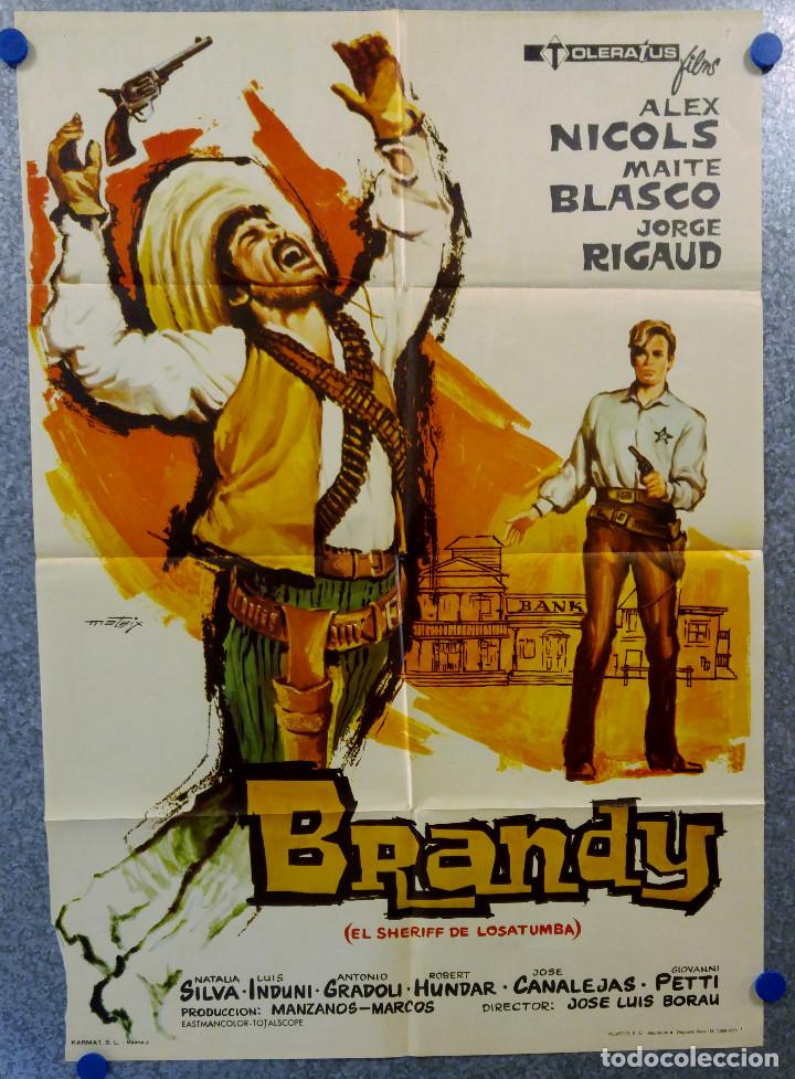 BRANDY EL SHERIFF DE LOSATUMBA ALEX NICOLS, MAITE BLASCO, JORGE RIGAUD . AÑO 1973 (Cine - Posters y Carteles - Westerns)