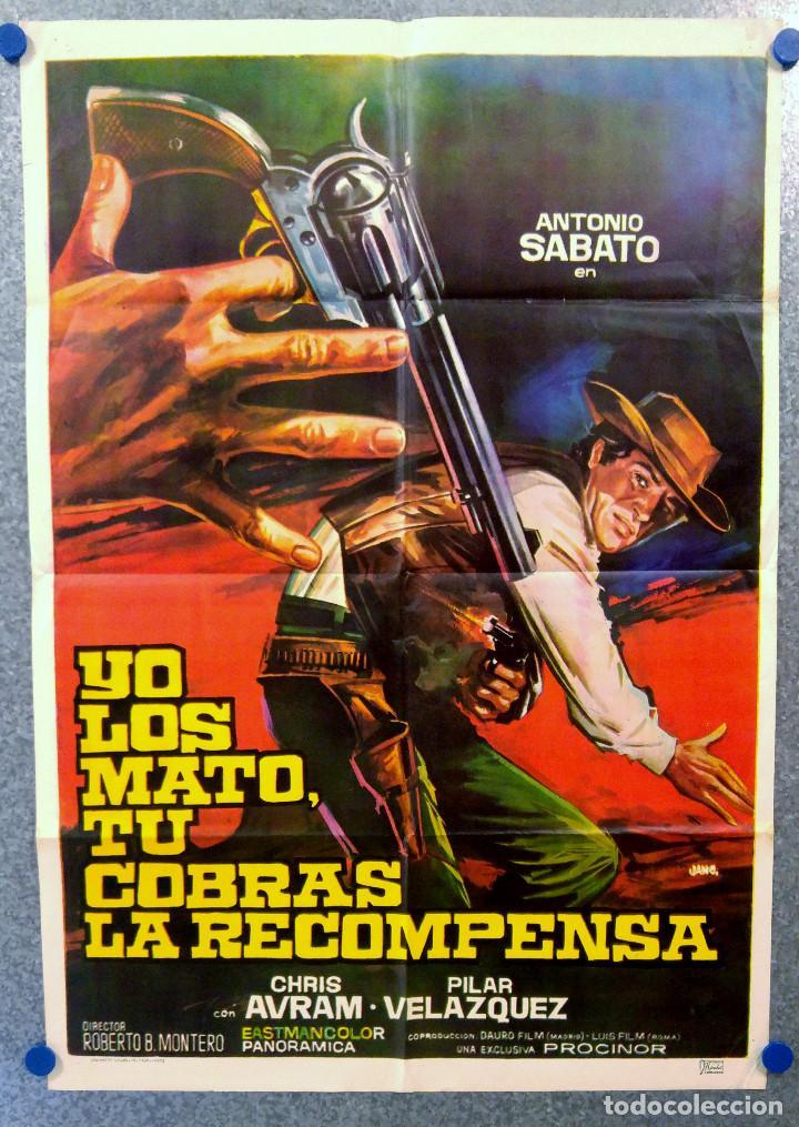 YO LOS MATO, TU COBRAS LA RECOMPENSA. ANTONIO SABATO, CHRIS AVRAM. AÑO 1972 (Cine - Posters y Carteles - Westerns)