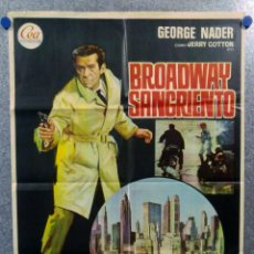 Cine: BROADWAY SANGRIENTO. JERRY COTTON GEORGE NADER HARALD REINL . AÑO 1970. Lote 147248402