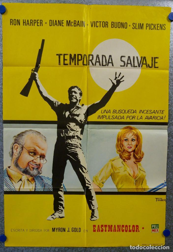 TEMPORADA SALVAJE. RON HARPER, DIANE MCBAIN. AÑO 1973 (Cine - Posters y Carteles - Westerns)