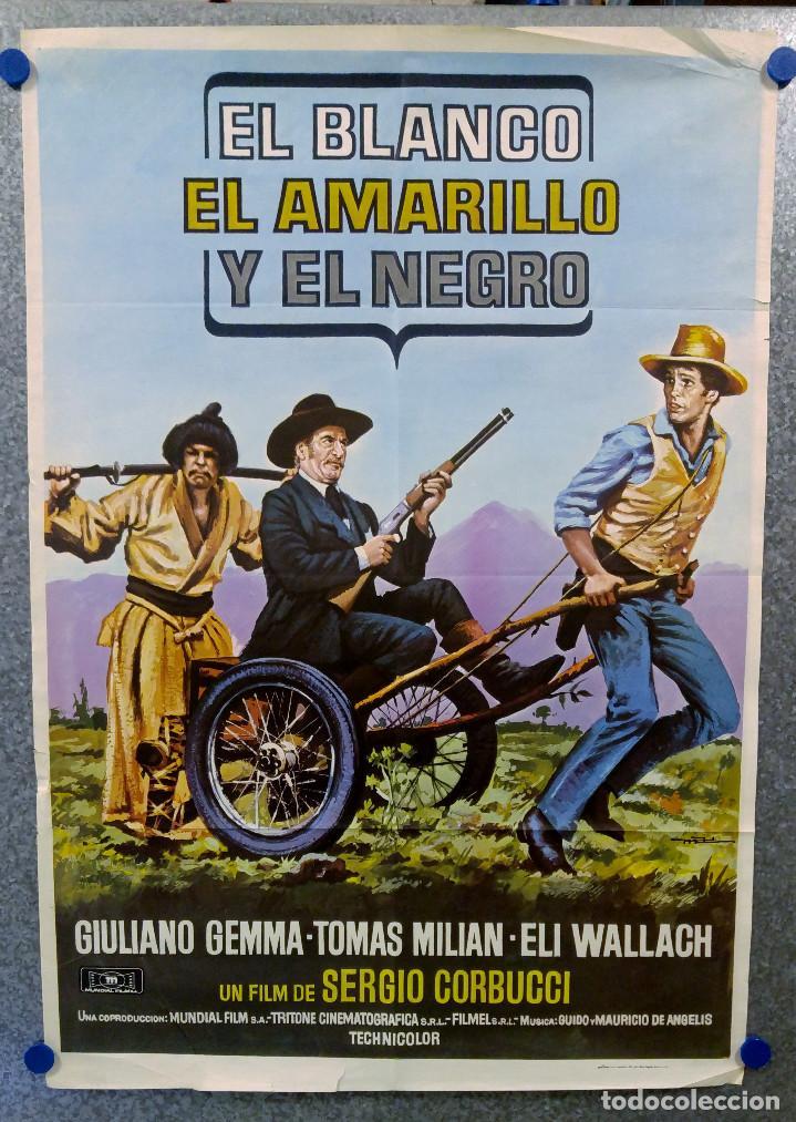 EL BLANCO EL AMARILLO Y EL NEGRO. GIULIANO GEMMA, TOMA MILIAN, ELI WALLACH. AÑO 1975 (Cine - Posters y Carteles - Westerns)