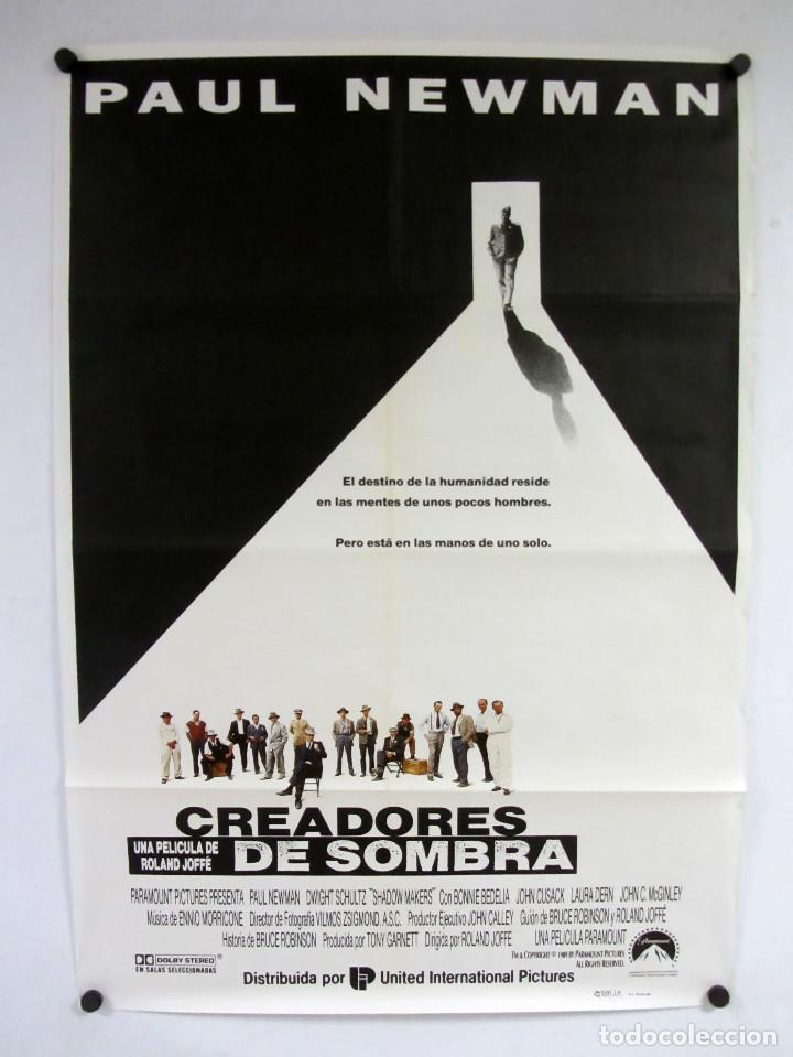 CREADORES DE SOMBRAS. PAUL NEWMAN. CARTEL ORIGINAL DE LA PELICULA DE 1989. 70X100CMS. (Cine - Posters y Carteles - Bélicas)