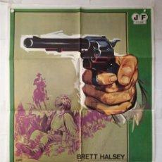 Cine: FORAJIDOS IMPLACABLES - POSTER CARTEL ORIGINAL - BRETT HALSEY HERMAN LANG EUGENIO BATTISTI JANO. Lote 147455374