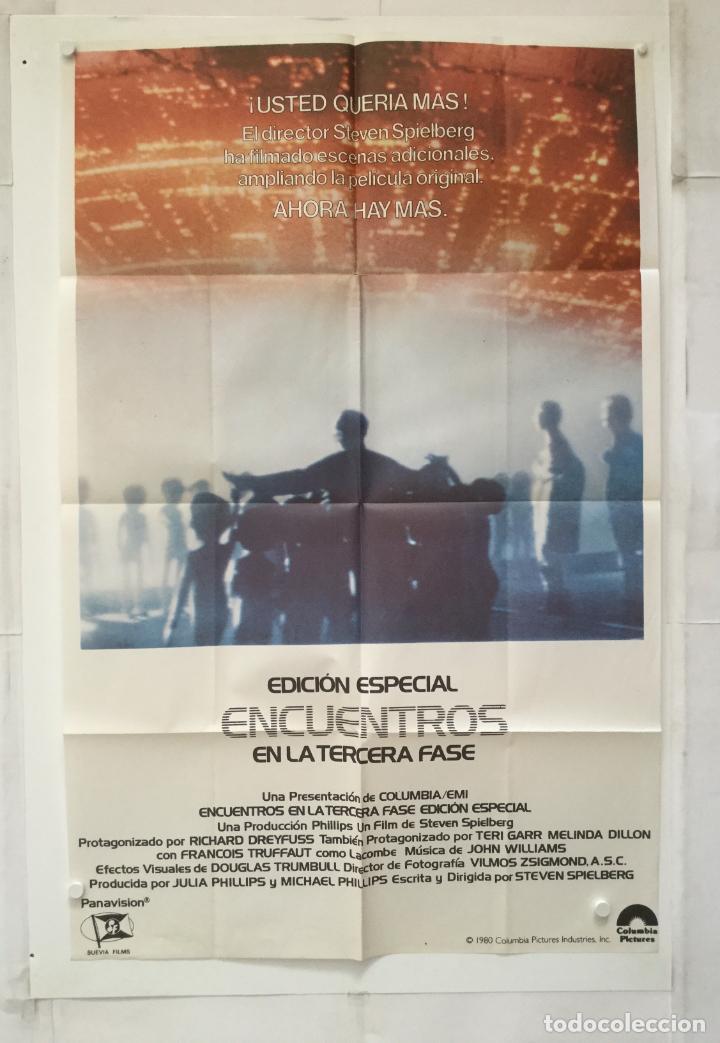 ENCUENTROS EN LA TERDERA FASE - POSTER CARTEL ORIGINAL - STEVEN SPIELBERG FRANÇOIS TRUFFAUT (Cine - Posters y Carteles - Ciencia Ficción)