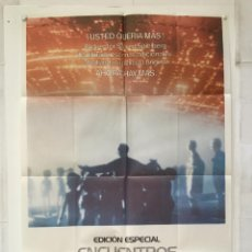 Cine: ENCUENTROS EN LA TERDERA FASE - POSTER CARTEL ORIGINAL - STEVEN SPIELBERG FRANÇOIS TRUFFAUT. Lote 147463574