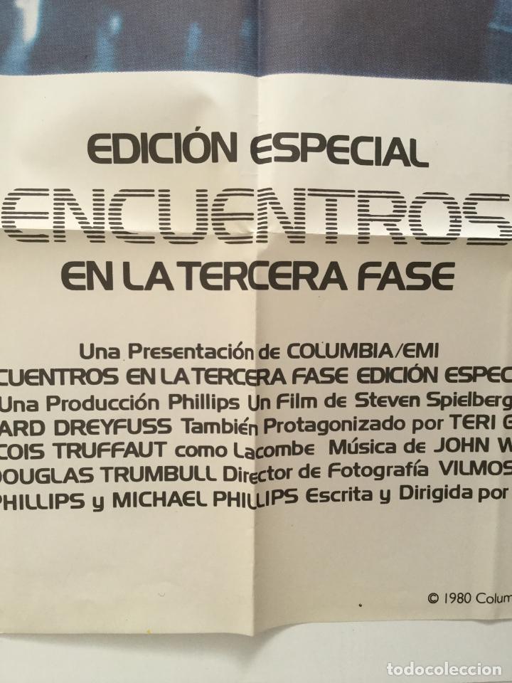 Cine: encuentros en la terdera fase - poster cartel original - steven spielberg François Truffaut - Foto 2 - 147463574