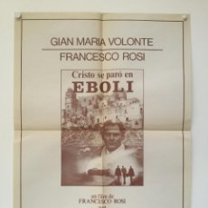 Cine: CRISTO SE PARO EN EBOLI - POSTER CARTEL ORIGINAL - GIAN MARIA VOLONTE IRENE PAPAS FRANCESCO ROSI. Lote 147469870