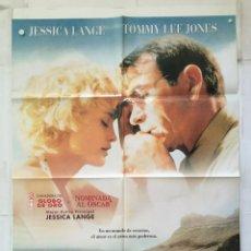 Cine: LAS COSAS QUE NUNCA MUEREN - POSTER CARTEL ORIGINAL - BLUE SKY JESSICA LANGE TOMMY LEE JONES. Lote 147470594