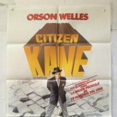 Cine: CIUDADANO KANE CITIZEN - POSTER CARTEL ORIGINAL - ORSON WELLES JOSEPH COTTEN DOROTHY COMINGORE. Lote 147472182