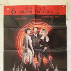 Cine: CHICAGO - POSTER CARTEL ORIGINAL - RICHARD GERE RENEE ZELLWEGER CATHARINE ZETA JONES. Lote 147472726