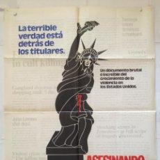 Cine: ASESINANDO NORTEAMERICA - POSTER CARTEL ORIGINAL. Lote 147496962